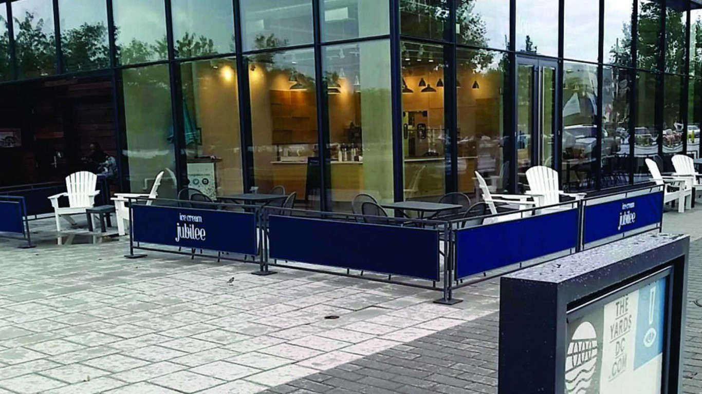 sidewalk partitions and barricades