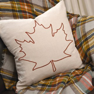 DIY Fall Leaf Pillow