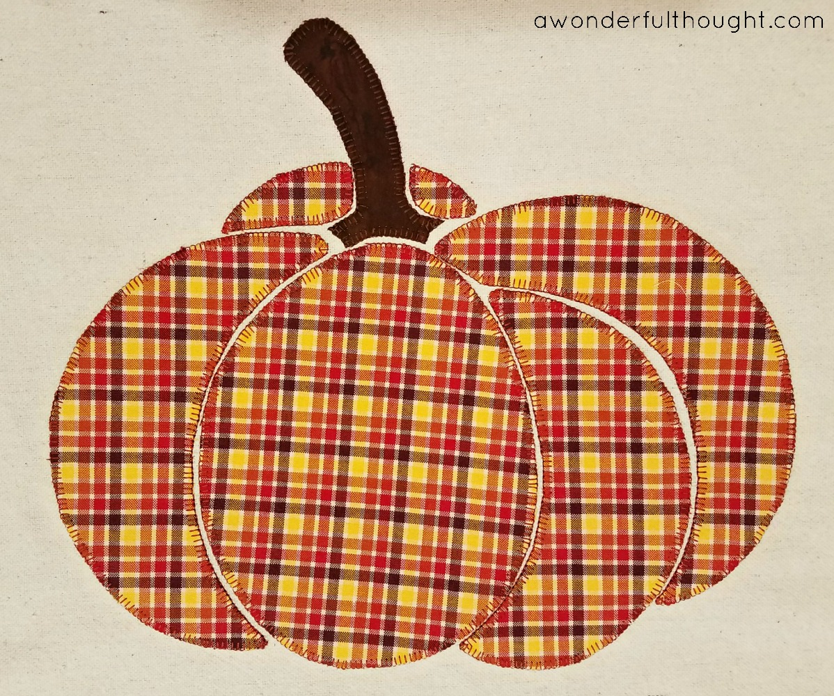 A Wonderful Thought | Plaid Pumpkin Pillow | awonderfulthought.com