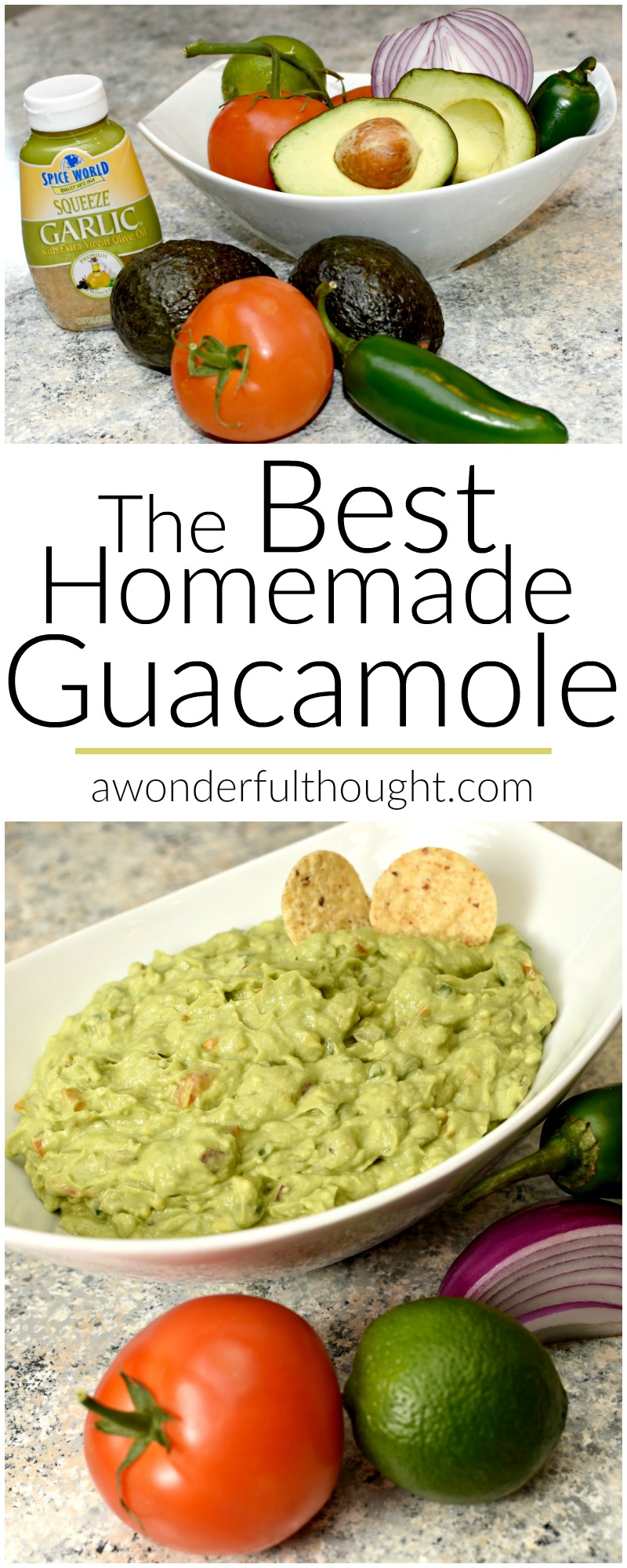 The Best Homemade Guacamole | awonderfulthought.com