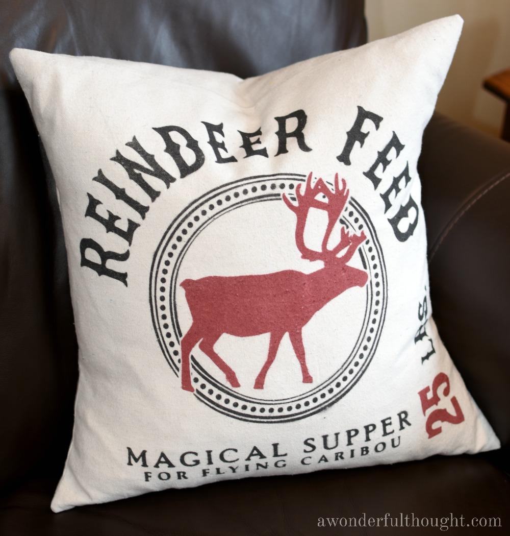 Reindeer Christmas Pillows - A wonderful thought christmas home tour 2016 part 1 awonderfulthought com