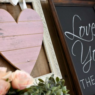 Pretty in Pink & Gray: Valentine's Day Mantel
