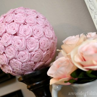 DIY Crepe Paper Flower Kissing Ball