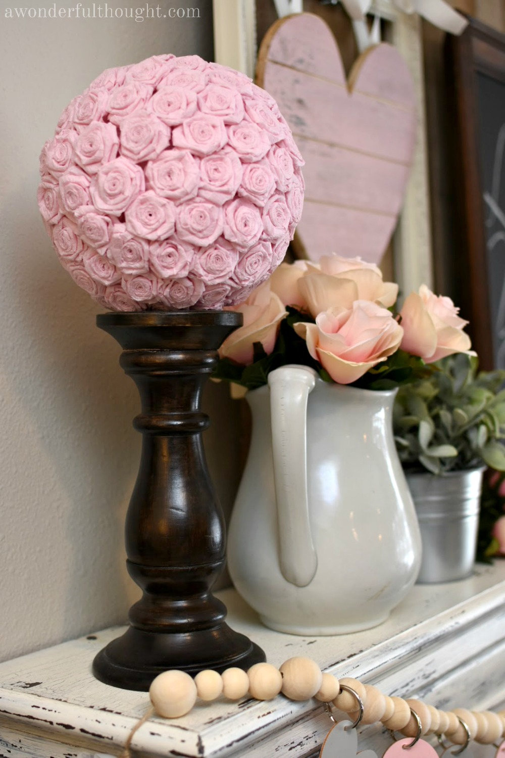 Diy Crepe Paper Flower Kissing Ball A Wonderful Thought