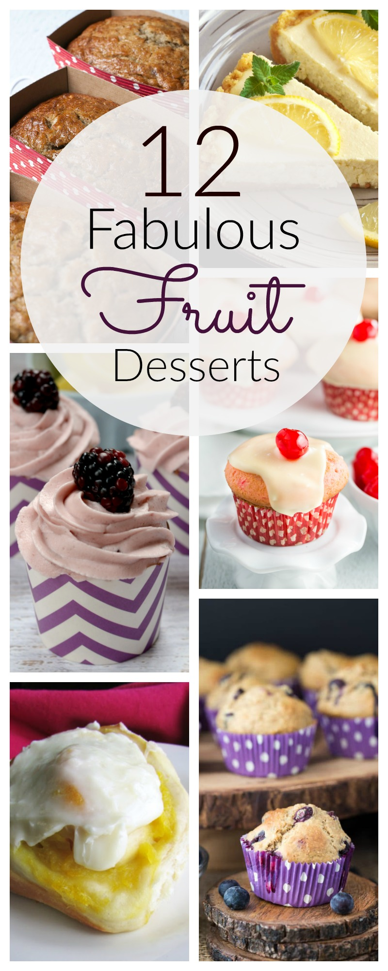 Check out these 12 fabulous fruit desserts. Each recipe has a different fruit flavor and some are even healthy and gluten free! | awonderfulthought.com