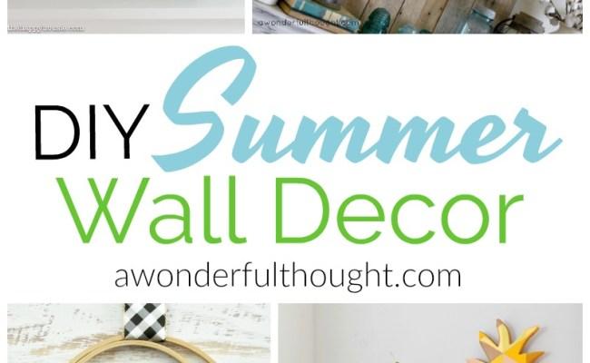 Diy Summer Wall Decor Awonderfulthought A Wonderful