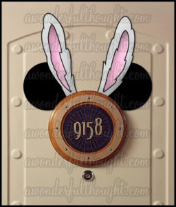 Stateroom Mickey Ears Easter Bunny | awonderfulthought.com
