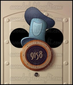 Stateroom Mickey Ears Steamboat Willie | awonderfulthought.com
