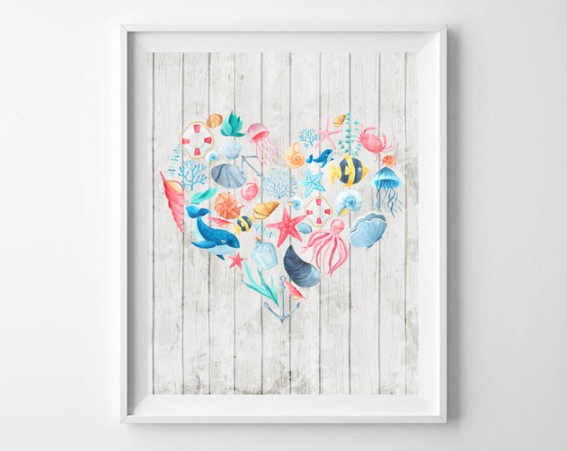 DIY Summer Wall Decor | awonderfulthought.com