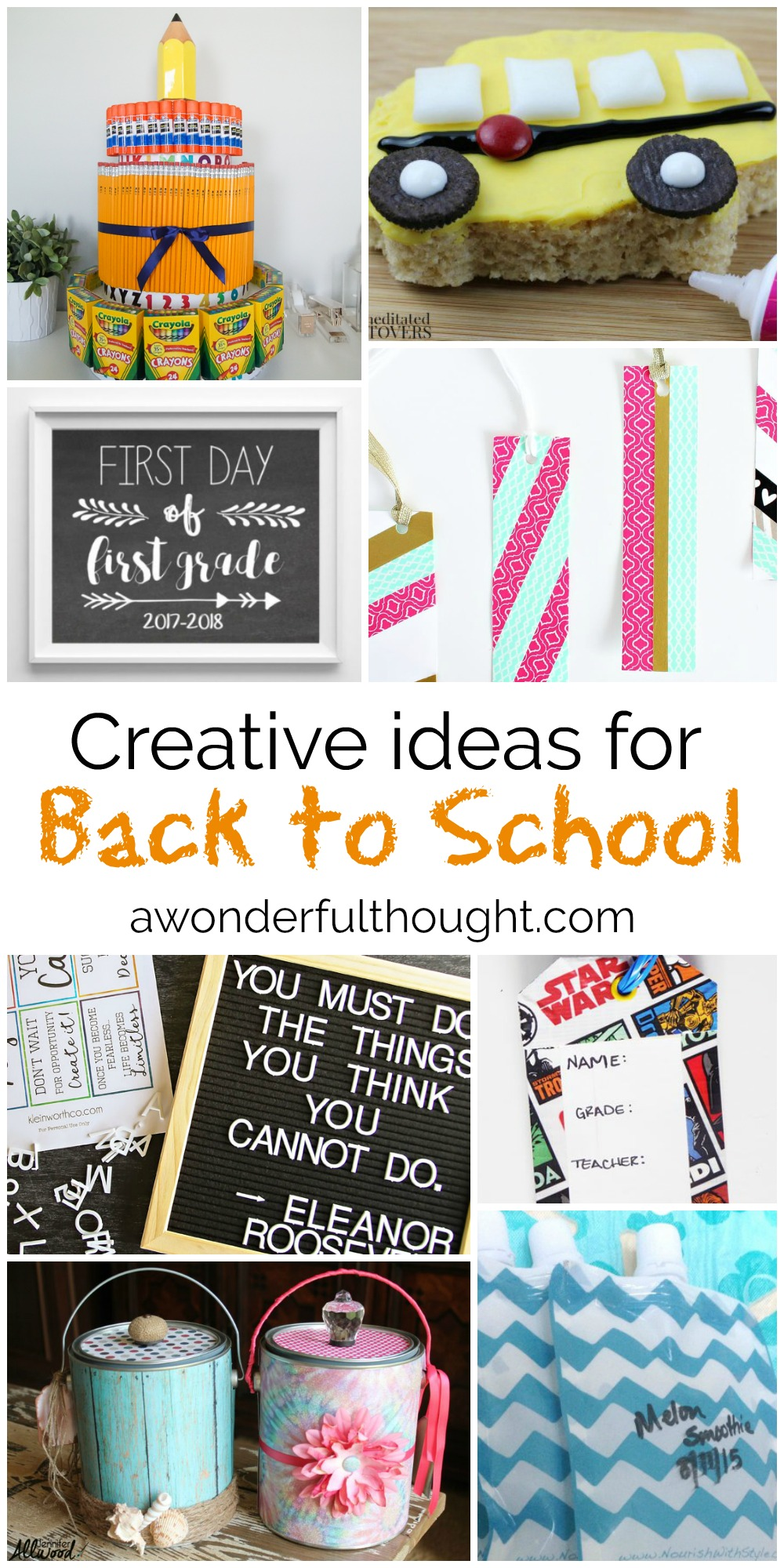 Creative Back to School Ideas | awonderfulthought.com
