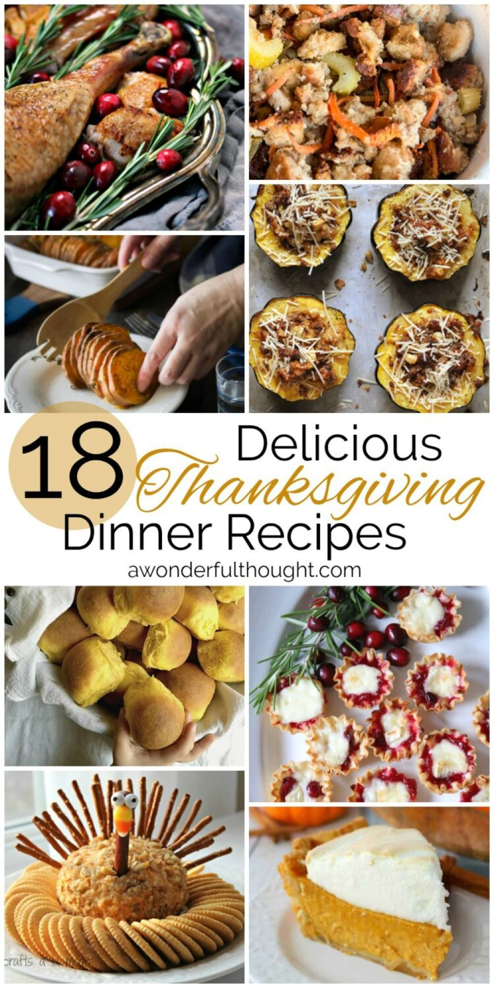 Thanksgiving Dinner Recipes | awonderfulthought.com
