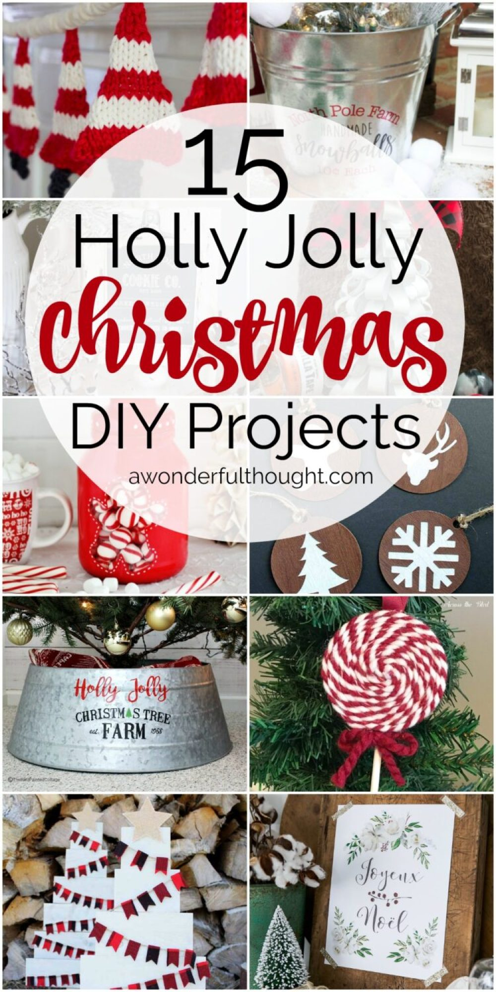 15 holly jolly christmas diy projects diy christmasdiy christmascrafts awonderfulthoughtcom