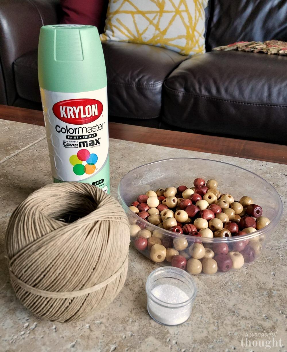 Wonderful Diy Ribbon Beads Christmas Tree: Wooden Bead Christmas Tree - A Wonderful