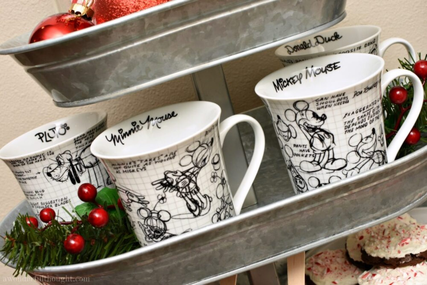 Disney Inspired Hot Cocoa Bar #hotchocolate #hotcocoabar #Disney #awonderfulthought.com