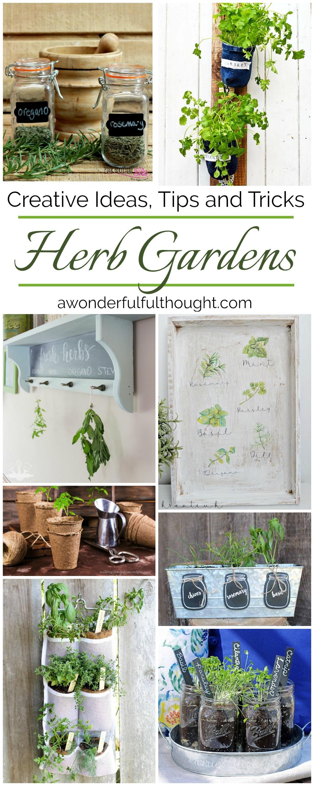 Creative Herb Garden Ideas herbgarden herbs indoorherbgarden