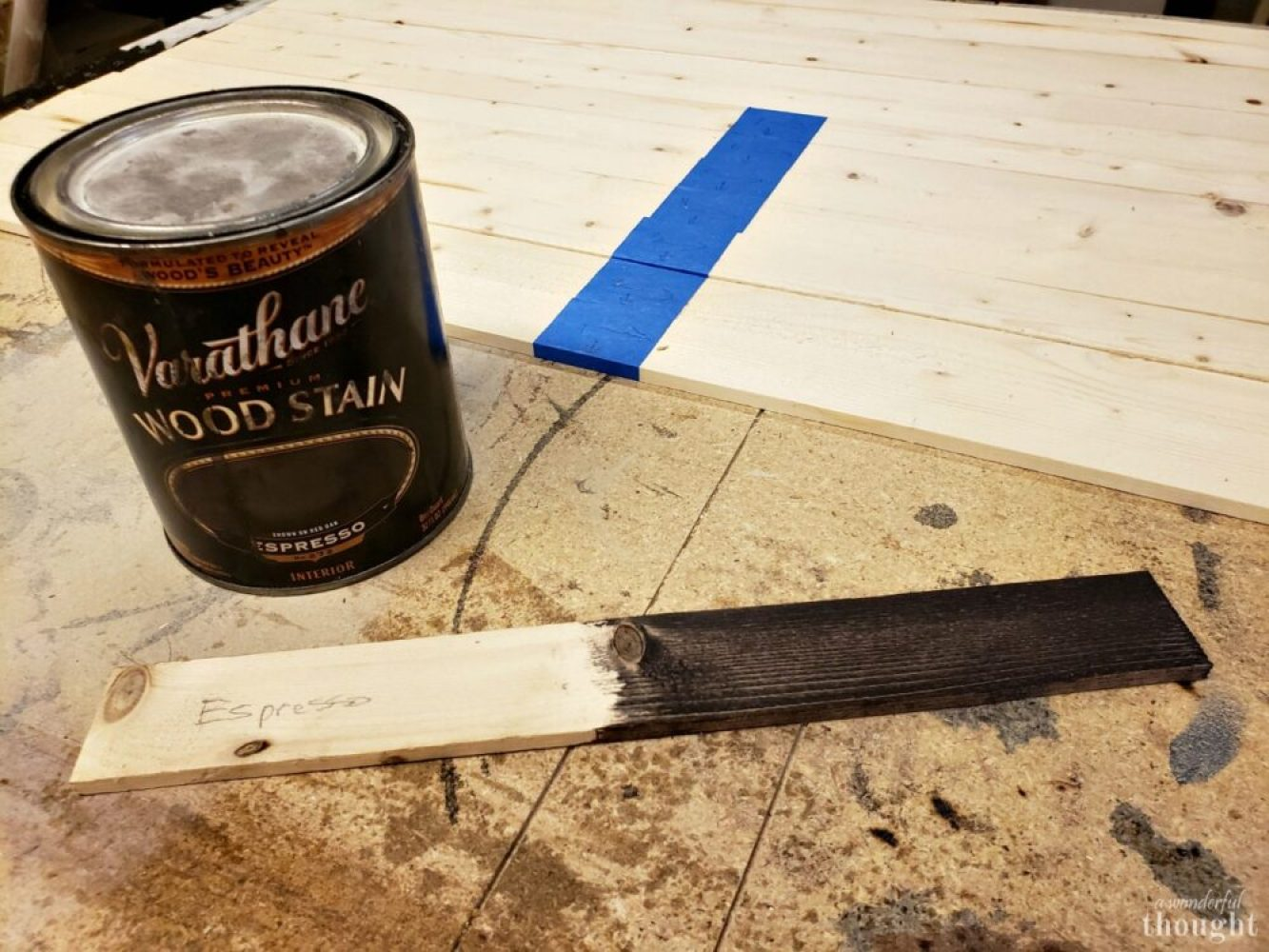 DIY Weathered Wood American Flag - A Wonderful Thought