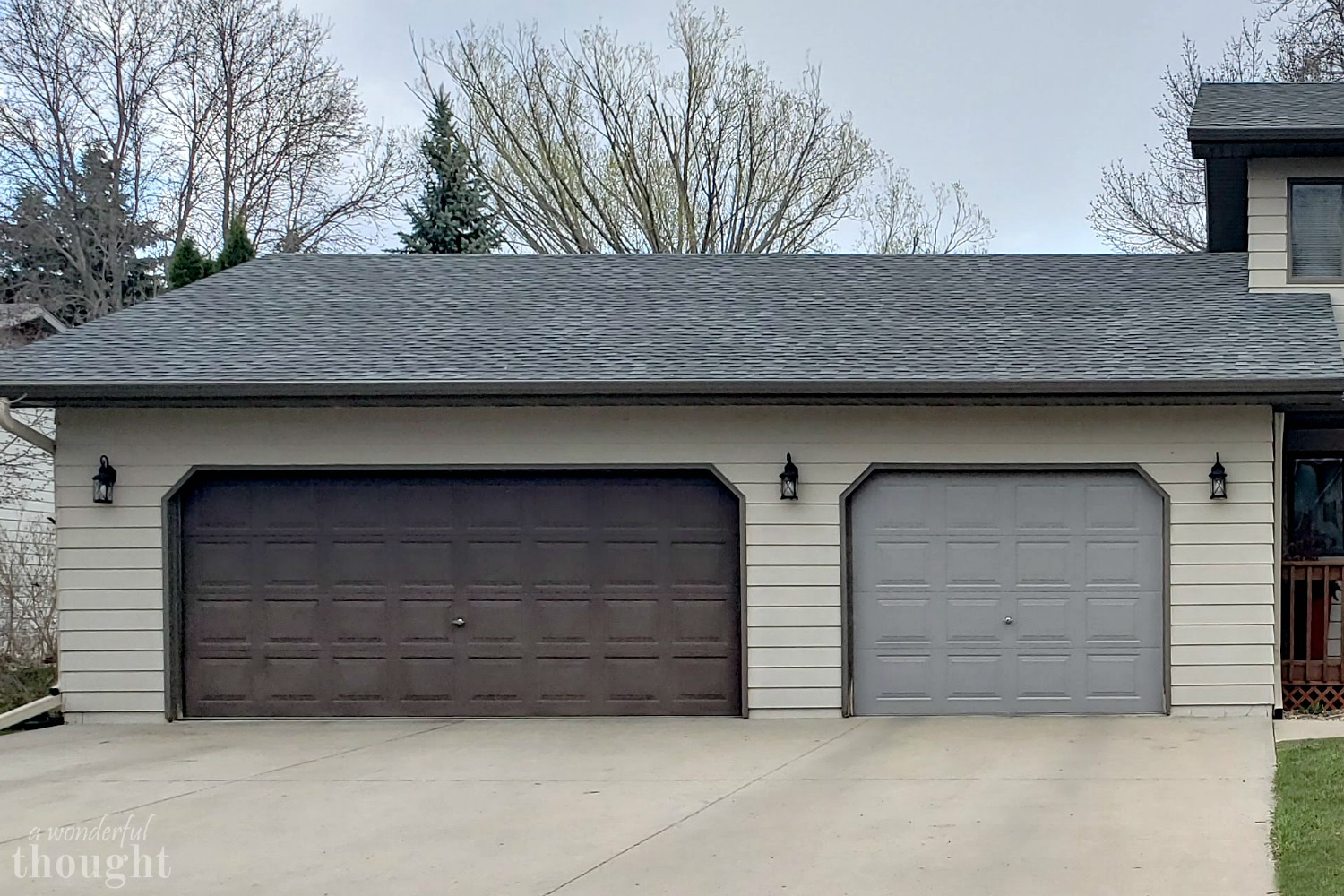 The Finish Is Spectacular And I Love How The Gray Doors Brighten Up The  House. Here Is Both Doors Done. Plus, The Gray Doors Go A Lot Better With  The Roof, ...