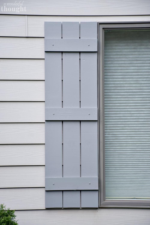 DIY Craftsman Style Board And Batten Shutters #diyshutters  #craftsmanstyleshutters #boardandbattenshutters #shutters #