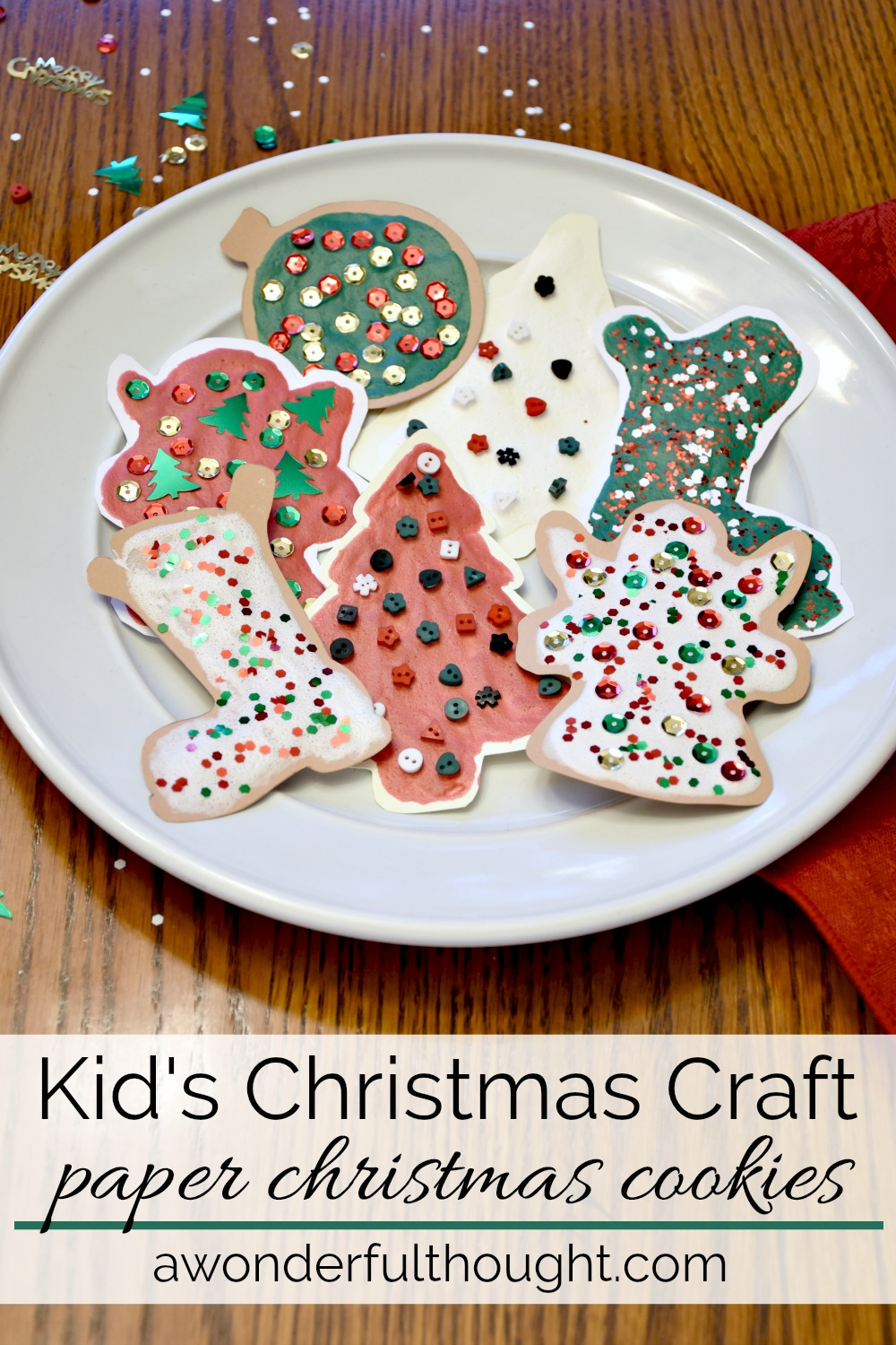 Paper Christmas Cookies - A Wonderful Thought