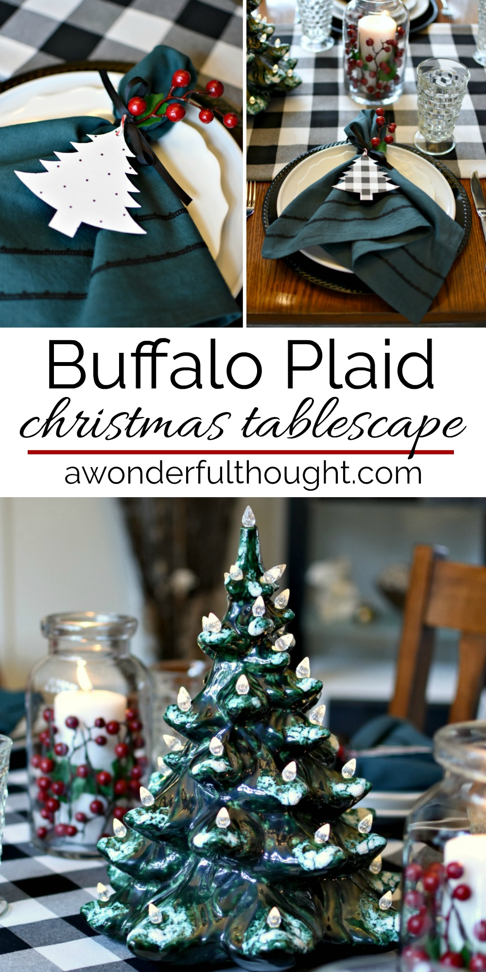 Buffalo Plaid Christmas Tablescape A Wonderful Thought