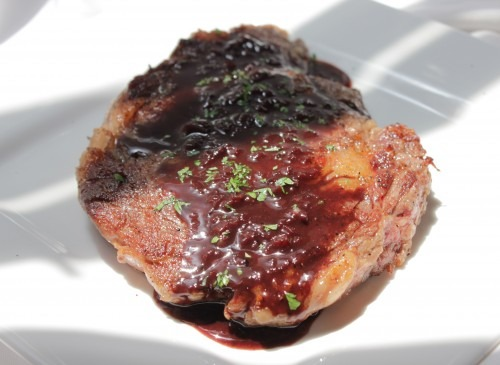 Mounting a Defense (featuring Rib Eye Steaks with Red Wine Reduction)
