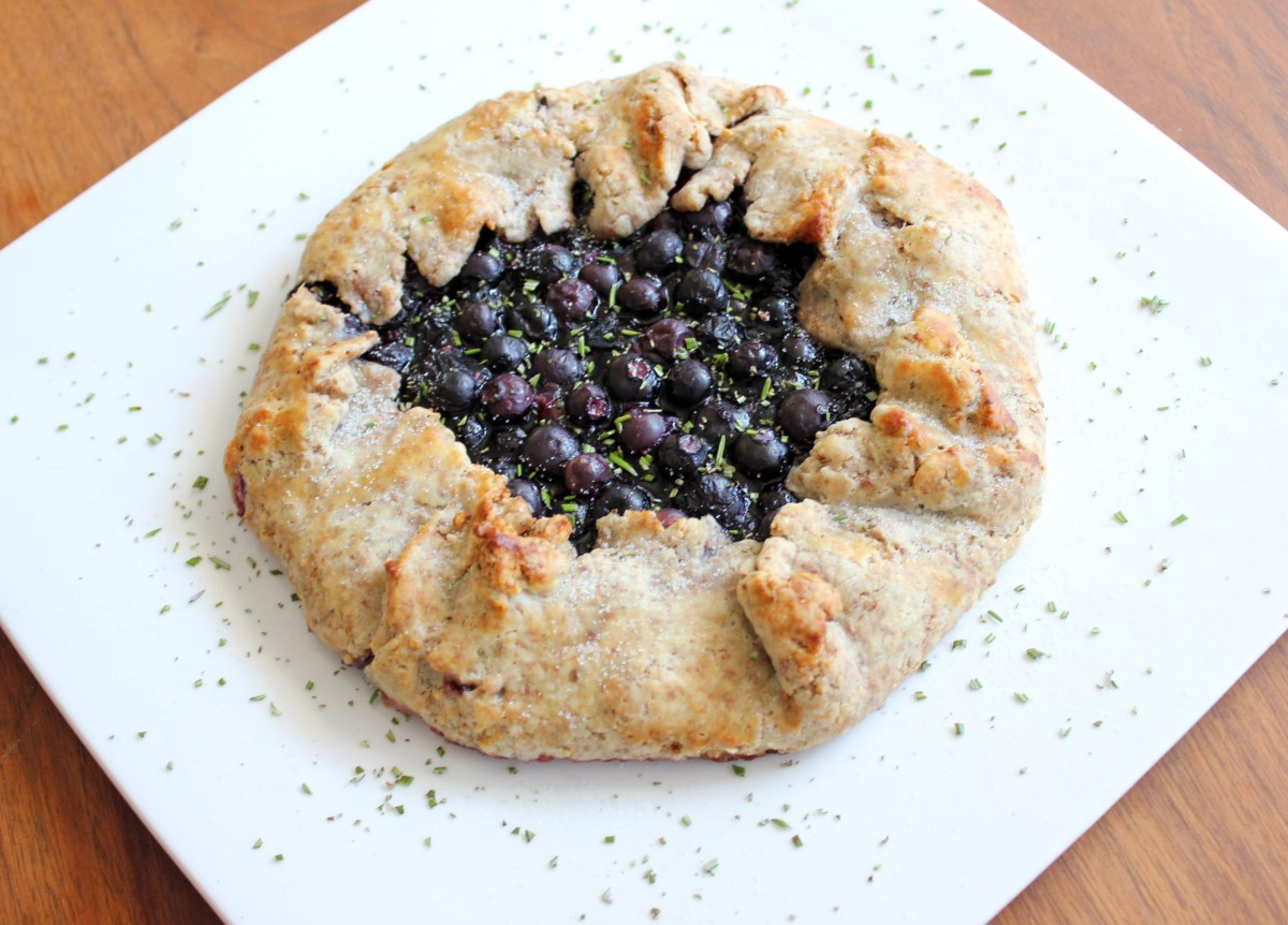 Blueberry and Lemon Galette with Hazelnut Rosemary Crust