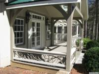 Painted Branch Railings on a Timber Frame Porch