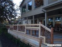 Deck Railing for Texas Lake House - Hot Tub, Built in ...