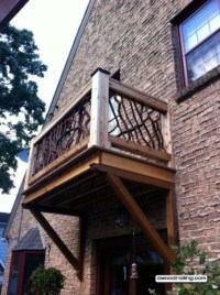 Wood Railing Blog for Mountain Laurel Handrail Pictures ...