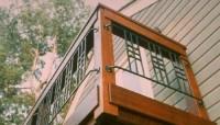 Ipe Framed Railing with Craftsman Metal Panels - Deck ...