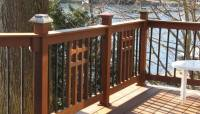 Mission Style Wood Balusters Mixed with Metal