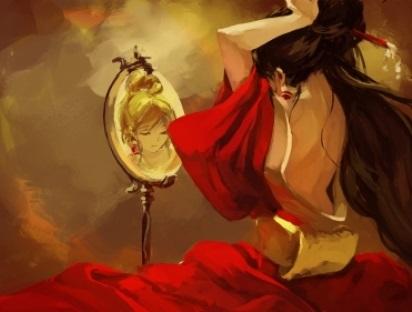 Life imitates art imitating life, or she needs more coffee.