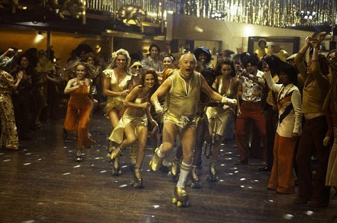 Doing the rhumba Goldmember has gold balls (on the soles of his feet)