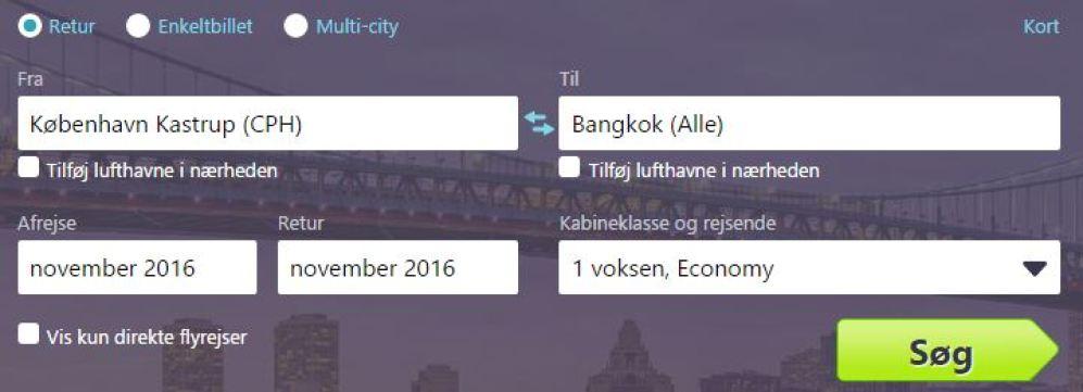 google flybilletter - find de billigste fly