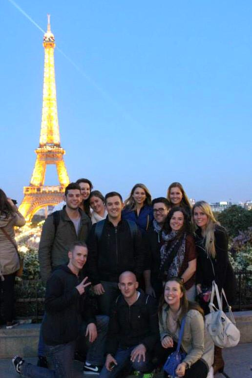 Contiki European Vista Paris Friends