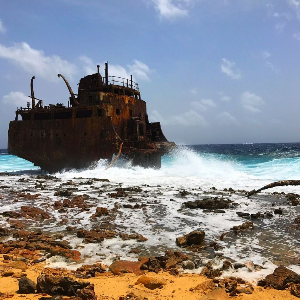 Shipwreck on Klein Curaçao
