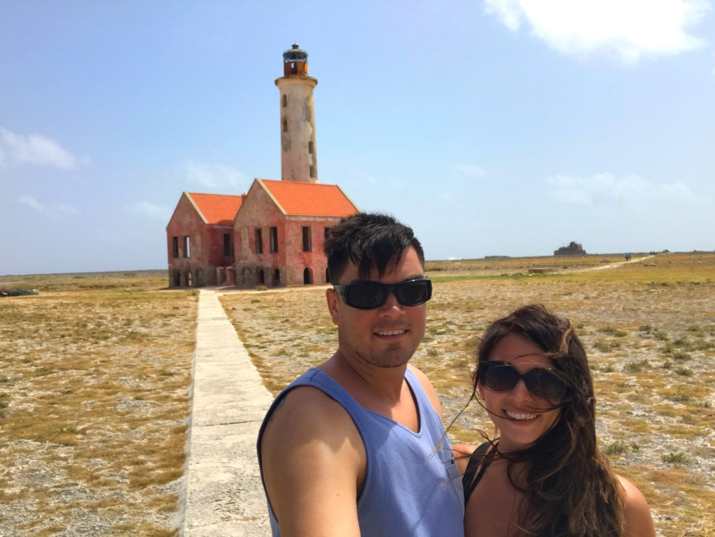 In front of the lighthouse on Klein Curaçao