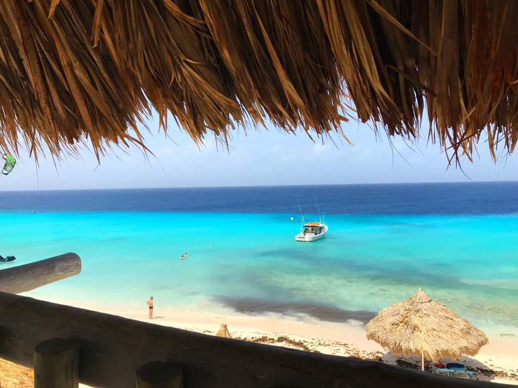 View from the top of Klein Curacao