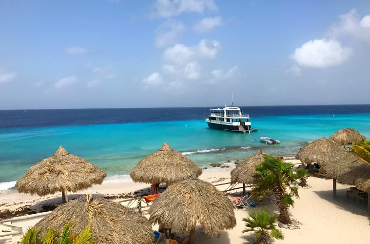 View from the top of Klein Curaçao