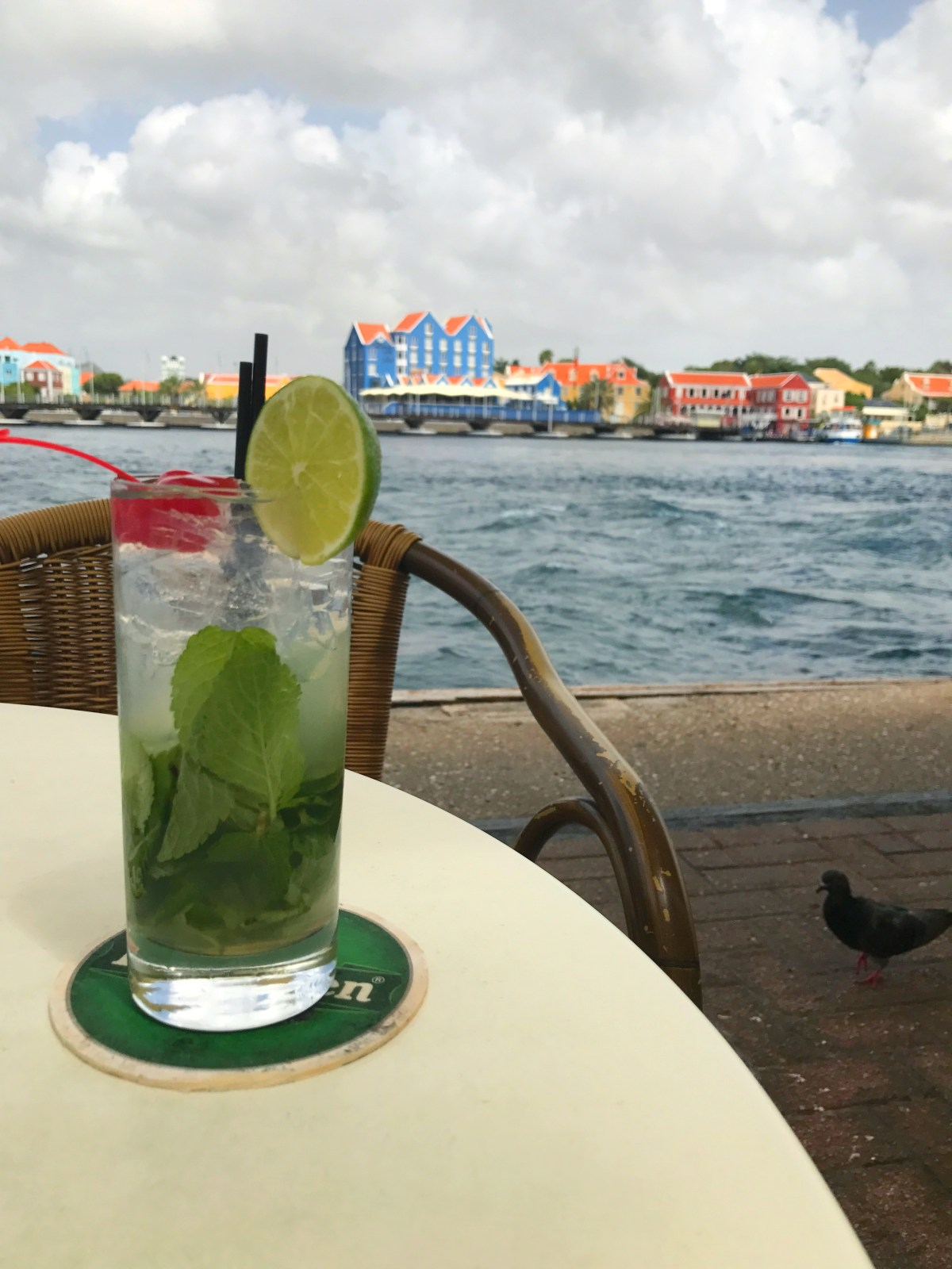 Refreshments in Willemstad, Curaçao