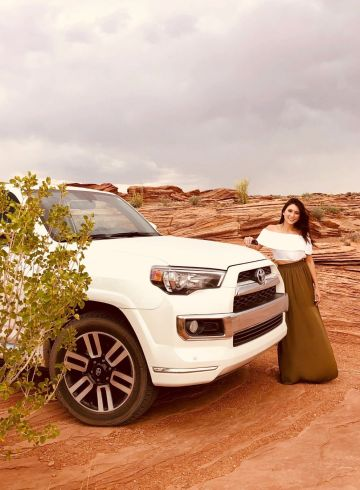 Woman with Toyota 4Runner