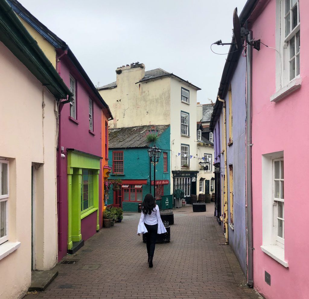 Woman walking in Kinsale, Ireland