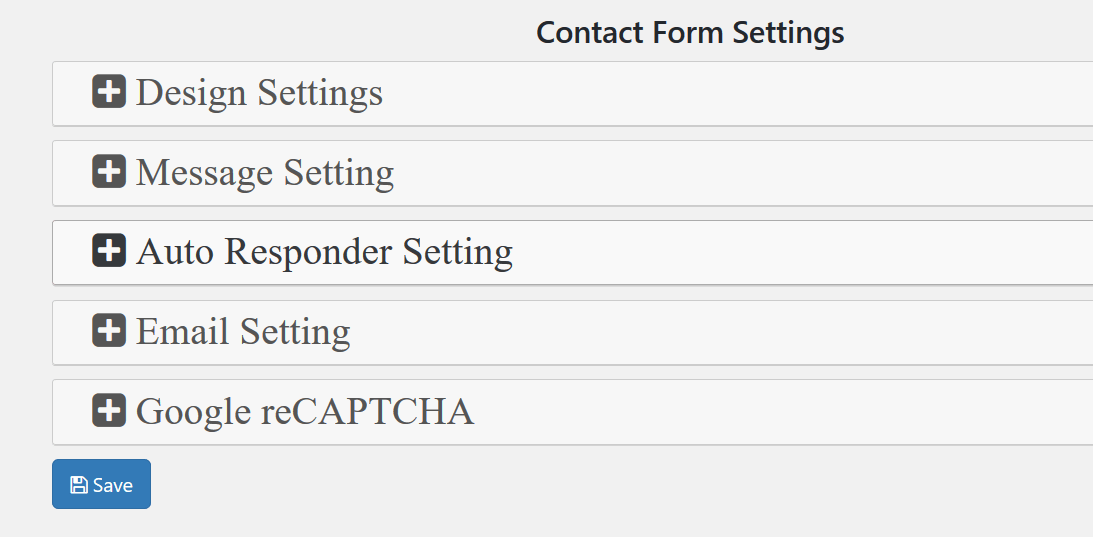 Contact Form Setting andPreview