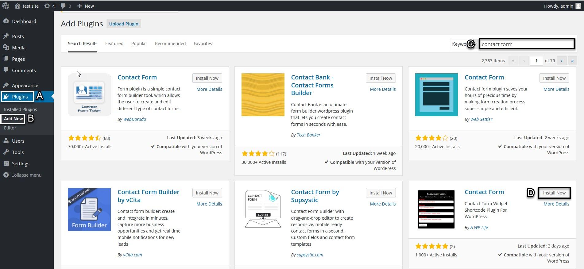 WordPress Contact Form Download & Installation
