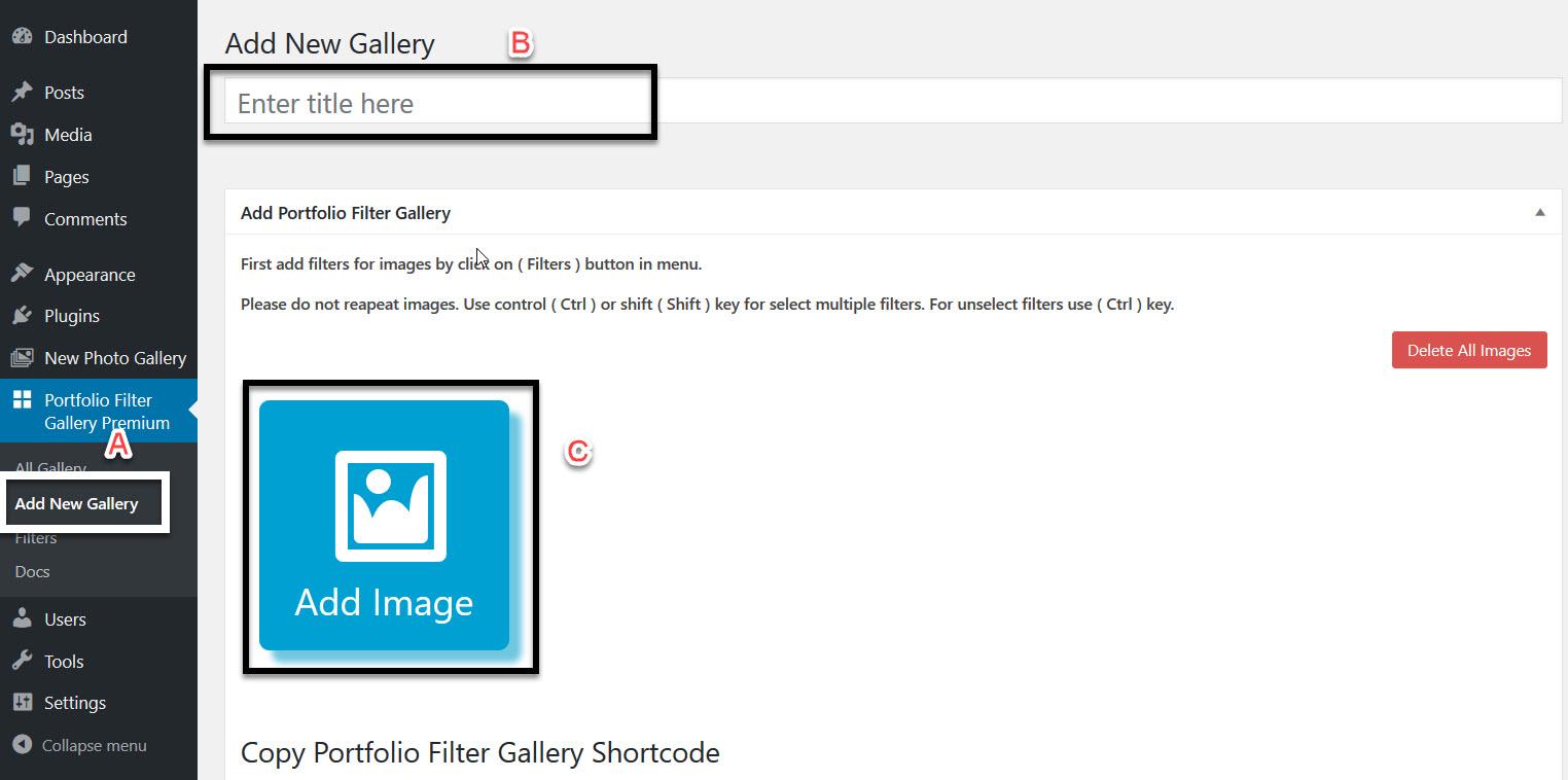 Create Filter Portfolio