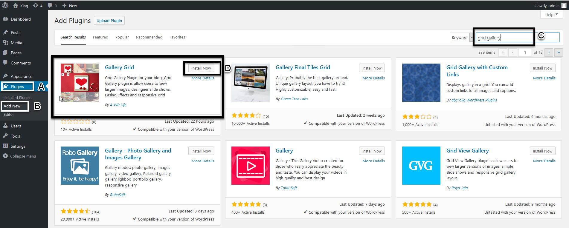 Download Grid Gallery Plugin