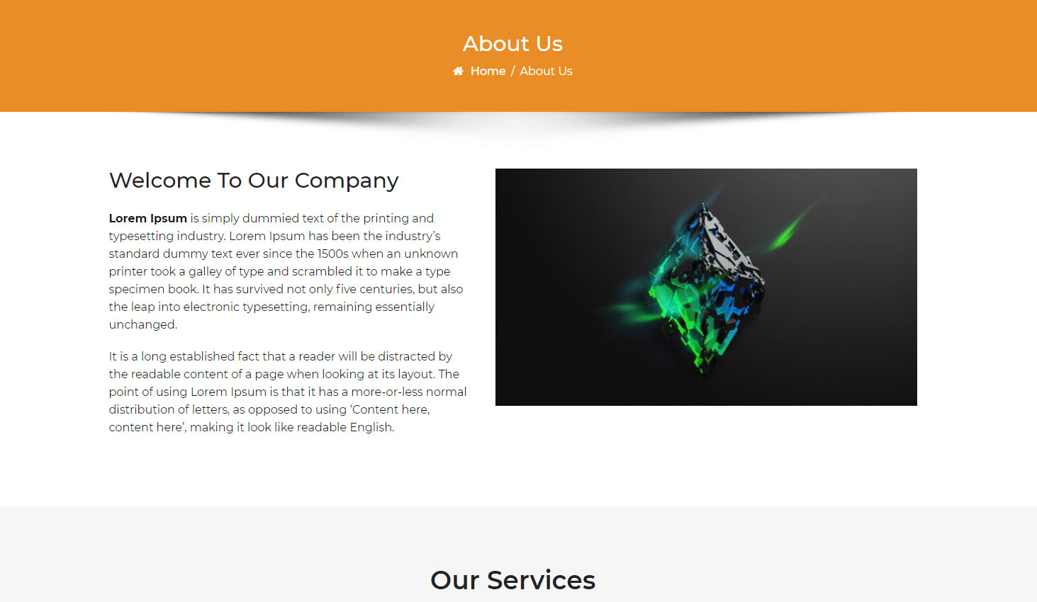 Crypto Premium WordPress Theme For Cryptocurrency Business and Blog Websites - A WP Life - About Us Template