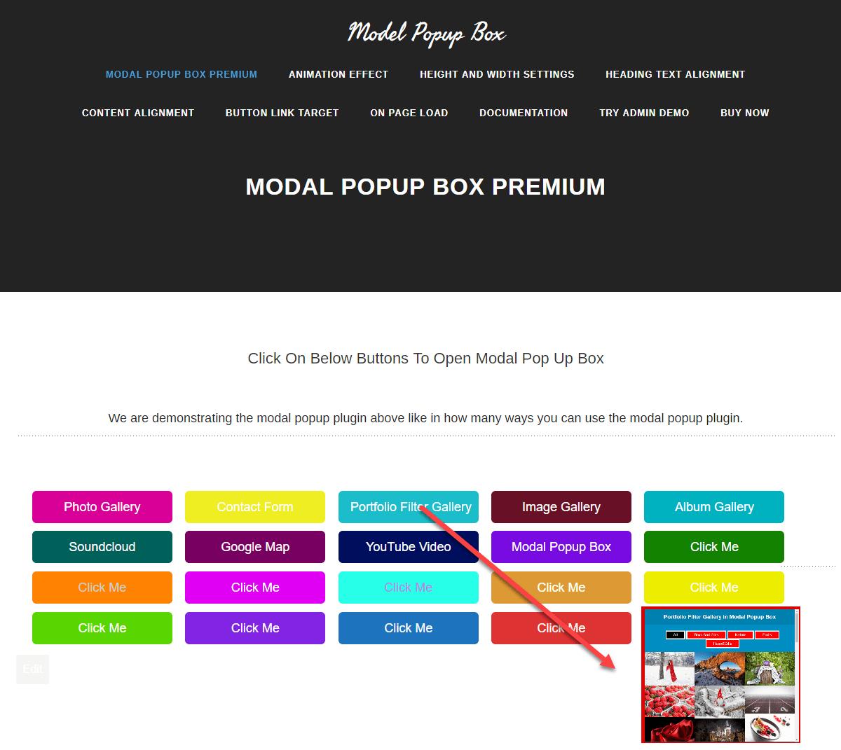 modal poup box