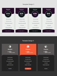 pricing table premium