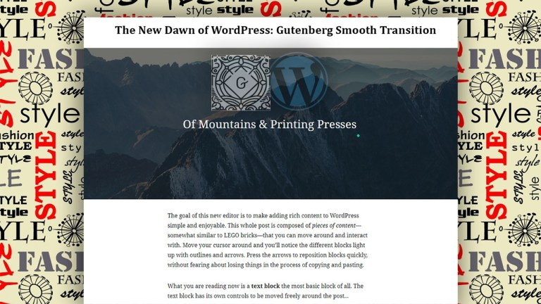 The New Dawn of WordPress: Gutenberg Smooth Transition